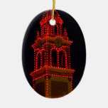 Plaza Lights Of Kansas City! Double-Sided Oval Ceramic Christmas Ornament