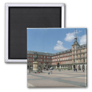 Plaza Mayor 2 Inch Square Magnet