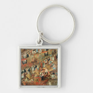 Plaza Mayor in Mexico, detail of carriages Keychain