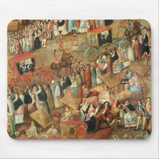 Plaza Mayor in Mexico, detail of carriages Mouse Pad