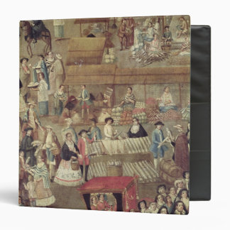 Plaza Mayor in Mexico, detail of the Market 3 Ring Binder