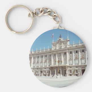Plaza Mayor, Madrid Basic Round Button Keychain