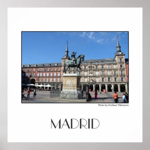 Plaza Mayor, Madrid Poster
