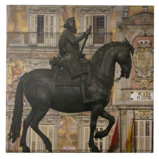 Plaza Mayor with statue of Filipe III, Madrid, Ceramic Tile