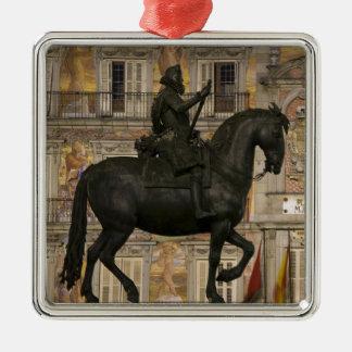 Plaza Mayor with statue of Filipe III, Madrid, Metal Ornament