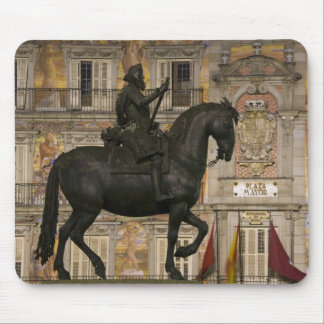 Plaza Mayor with statue of Filipe III, Madrid, Mouse Pad