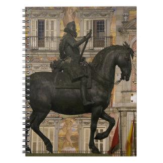 Plaza Mayor with statue of Filipe III, Madrid, Notebook