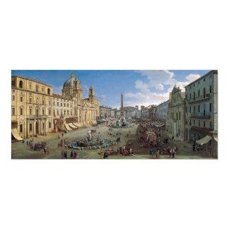 Plaza Navona, invitación del personalizado del