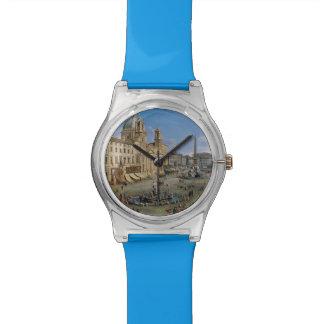 Plaza Navona, relojes de encargo del arte del