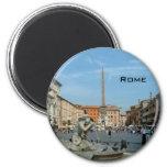 Plaza Navona - Roma Imán Redondo 5 Cm