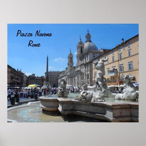 Plaza Navona- Roma, Italia Poster