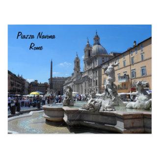 Plaza Navona- Roma, Italia Tarjetas Postales