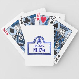 Plaza Nueva, Granada Street Sign Poker Deck