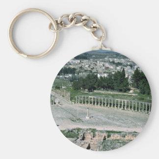 Plaza oval ciudad antigua Jarash Jordania de Dec Llaveros Personalizados