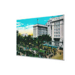 Plaza Park and U.S. Grant HotelSan Diego, CA Gallery Wrapped Canvas