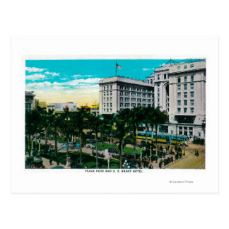 Plaza Park and U.S. Grant HotelSan Diego, CA Postcard