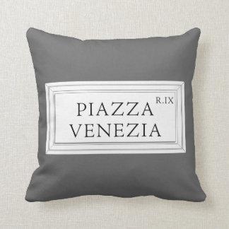 Plaza placa de calle de Venezia, Roma Cojín