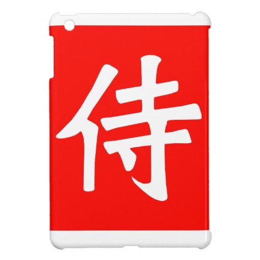 Plaza Roja del kanji del samurai iPad Mini Carcasa