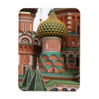 Plaza Roja en Moscú, Rusia.  Fotografiado en a Iman Rectangular