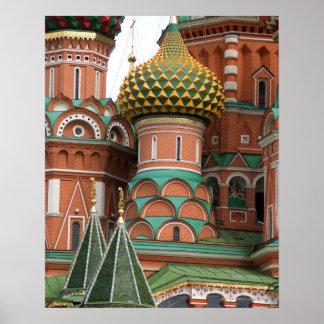 Plaza Roja en Moscú, Rusia.  Fotografiado en a Impresiones
