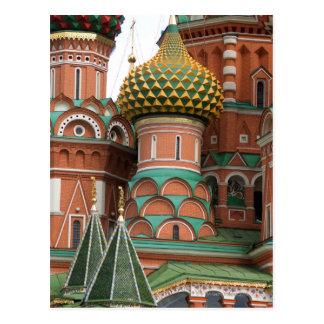 Plaza Roja en Moscú, Rusia.  Fotografiado en a Postal