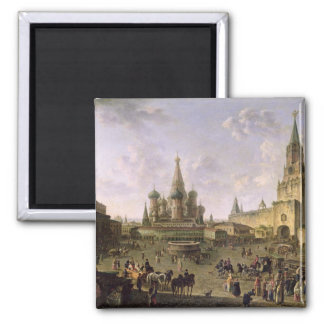 Plaza Roja, Moscú, 1801 Imán Cuadrado