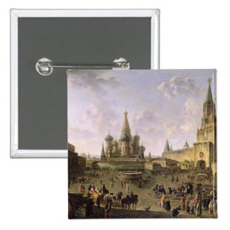 Plaza Roja, Moscú, 1801 Pin Cuadrada 5 Cm