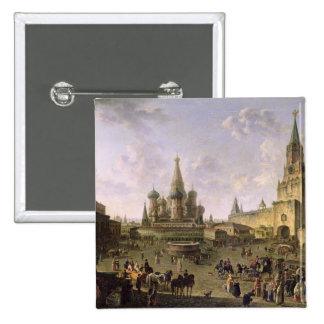 Plaza Roja, Moscú, 1801 Pin Cuadrado