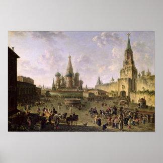 Plaza Roja, Moscú, 1801 Póster