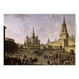 Plaza Roja, Moscú, 1801 Tarjeta De Felicitación