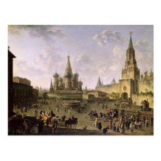Plaza Roja, Moscú, 1801 Tarjeta Postal