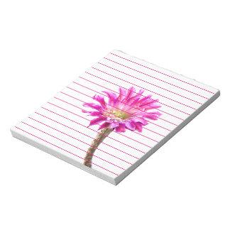 Plaza rosada en la floración bloc de notas