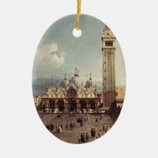 Plaza San Marco de Canaletto- con la basílica Adorno Para Reyes
