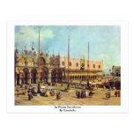 Plaza San Marco del La. Por Canaletto Postales