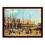 Plaza San Marco del La. Por Canaletto Tarjetas Postales