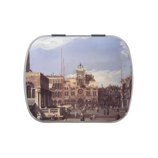 Plaza San Marco, el Clocktower de Canaletto- Latas De Caramelos