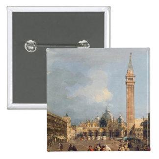 Plaza San Marco, Venecia, c.1760 Pin Cuadrado