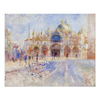 Plaza San Marco Venecia de Pierre-Auguste Renoir Fotografía