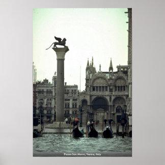 Plaza San Marco, Venecia, Italia Poster