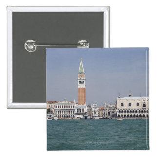 Plaza San Marco Venecia Italia Pin Cuadrado