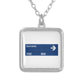 Plaza Serrano Buenos Aires Street Sign Personalized Necklace