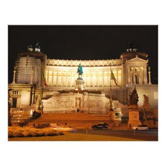 "Plaza Venezia, Roma Folleto 8.5"" X 11"""