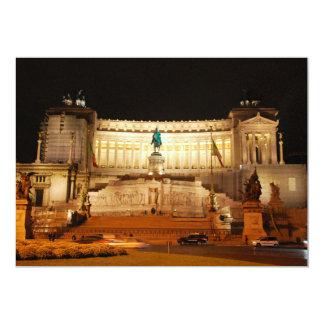"Plaza Venezia, Roma Invitación 5"" X 7"""