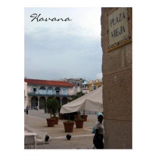 plaza vieja havana postcard