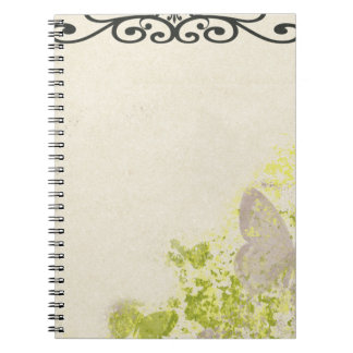 PLB OLD-FASHIONED VINTAGE BUTTERFLIES FLORAL DECOR SPIRAL NOTEBOOKS
