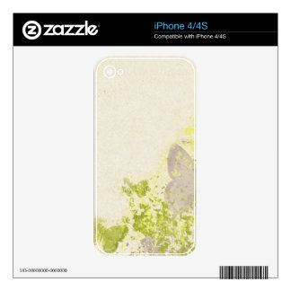 PLB OLD-FASHIONED VINTAGE BUTTERFLIES FLORAL DECOR iPhone 4 SKIN