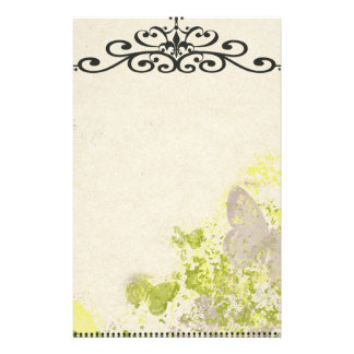 PLB OLD-FASHIONED VINTAGE BUTTERFLIES FLORAL DECOR STATIONERY