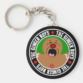 Pleading Gingerbread Man Cookie Basic Round Button Keychain