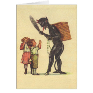 Pleading With Krampus Greeting Card