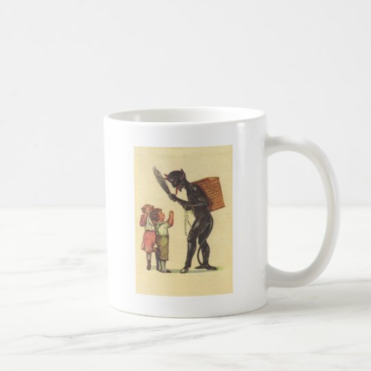 Pleading With Krampus Coffee Mug